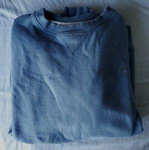 Champion Crewneck Pullover Sweatshirt Blue/Grey